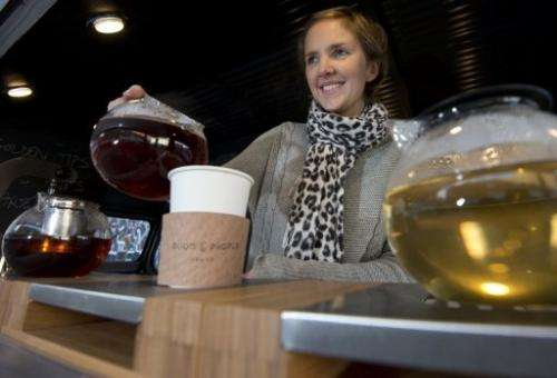 Tea enthusiast Emilie Holmes has hit the streets of London in her antique van serving flavourful loose-leaf tea