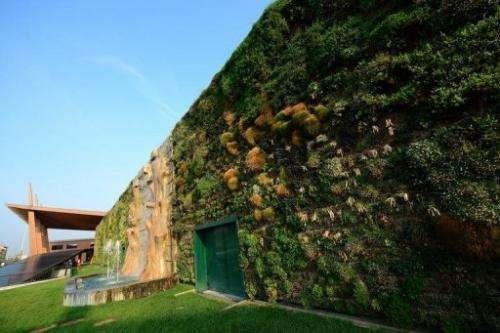 The garden cost 1.0 million euros ($1.3 million)
