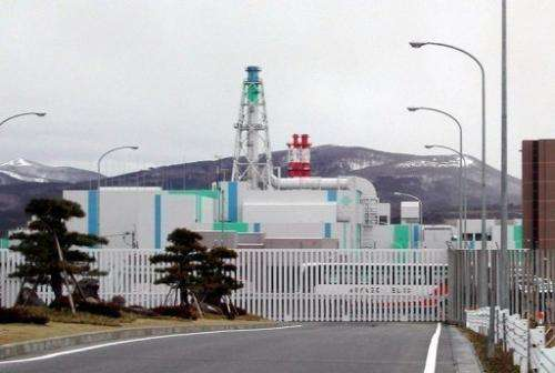 The Rokkasho reprocessing plant for spent nuclear fuel in northern Japan, pictured on March 31, 2006