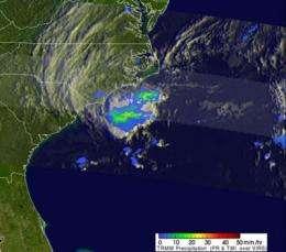 Two NASA satellites spy Alberto, the Atlantic Ocean season's first tropical storm