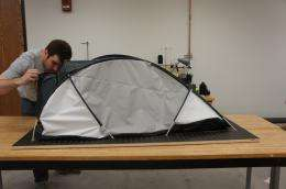 U-M architecture student builds a tent for the ultimate test: survival