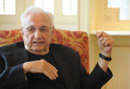 US based architect Frank Gehry is pictured in 2009
