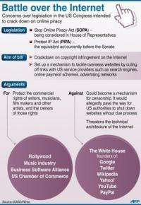 US congressional leaders put the anti-online piracy legislation on hold on Friday