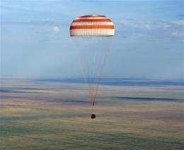 US, Russian space trio lands in Kazakhstan