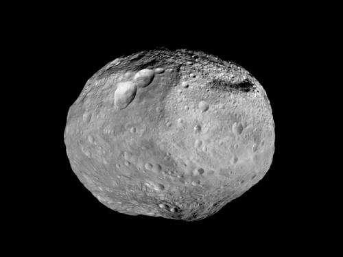Vesta in Dawn's rear view mirror