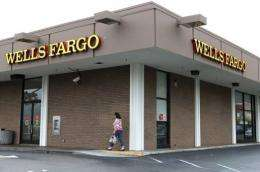 Wells Fargo's website was experiencing problems Wednesday, after a threat against US banking firms
