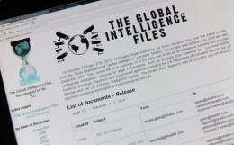 """WikiLeaks claimed the Stratfor emails reveal the """"private lies of private spies"""""""