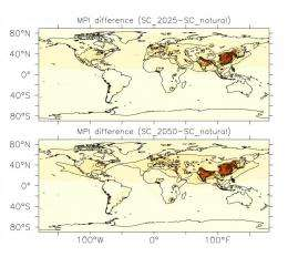 Worldwide increase of air pollution