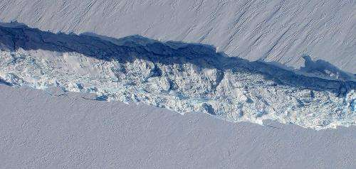 Antarctic glacier calves iceberg one-fourth size of Rhode Island