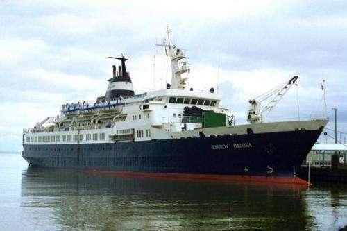 An undated handout picture of former Russian cruise ship MV Lyubov Orlova