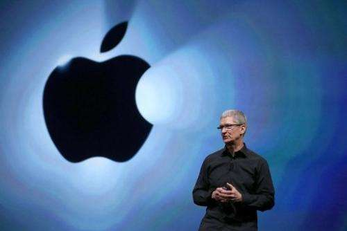 Apple CEO Tim Cook speaks in San Francisco on September 12, 2012