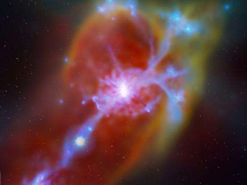 Astronomers observe distant galaxy powered by primordial cosmic fuel