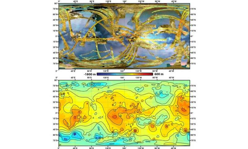 Cassini shapes first global topographic map of Titan
