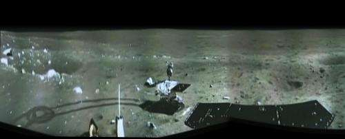 China's lunar lander snaps first landing site panorama