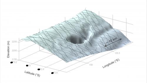CryoSat maps largest-ever flood beneath Antarctica