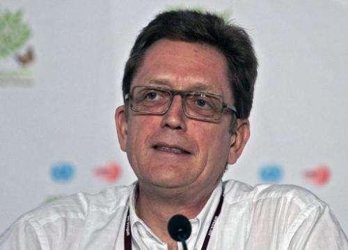 European Commission climate negotiator Artur Runge-Metzger speaks on November 29, 2010 in Cancun