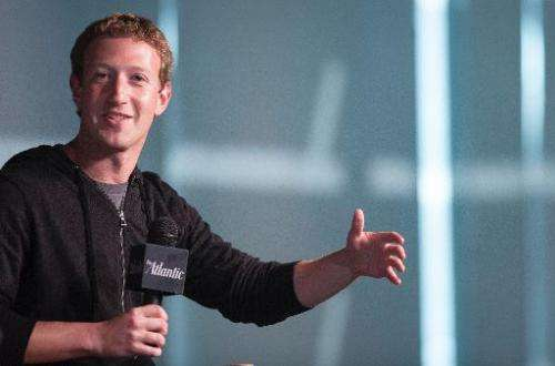 Facebook Founder and CEO Mark Zuckerberg speaks during an interview session with The Atlantic at the Newseum in Washington, DC,