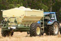 Fertiliser spread research aims to boost crop yields
