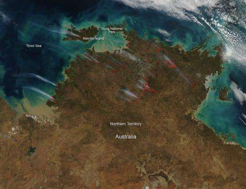 Fires in Northern Territory Australia