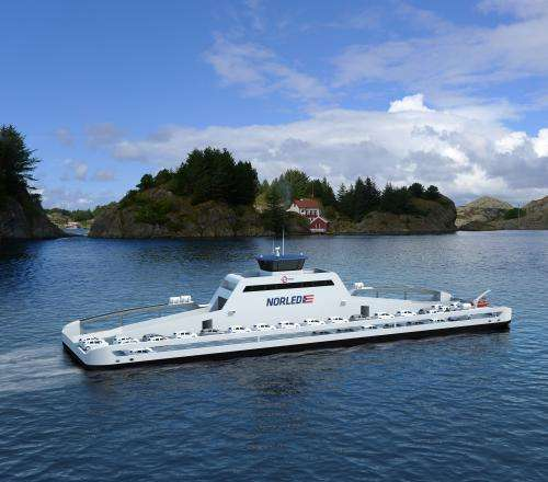 First car ferry powered by electric drive system