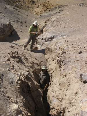 Frozen in time, cracks reveal earthquake history