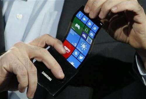 Gadget Watch: Samsung shows bendable phone screen