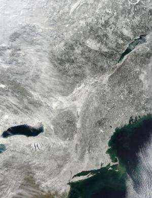 NASA provides satellite views of nor'easter lifespan