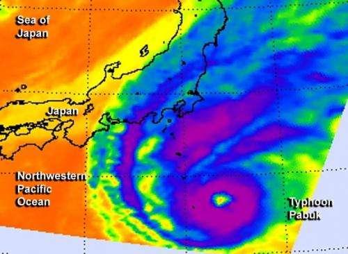 NASA views a transitioning Tropical-Storm Pabuk