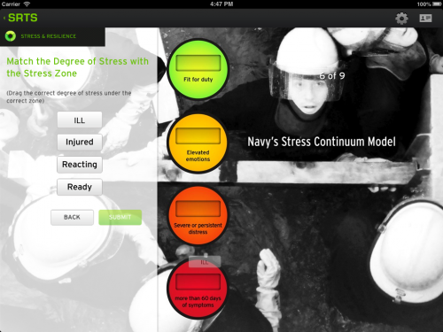 Navy creates iPad app for managing stress and fending off PTSD