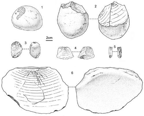 Stone artifacts unearthed from the early Paleolithic site of Danjiangkou reservoir area, China