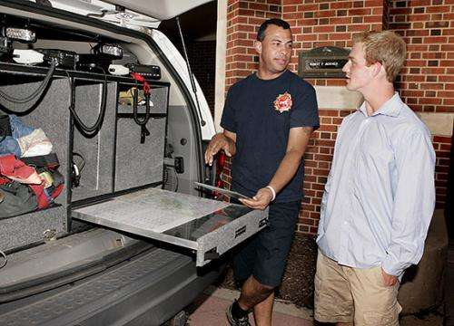Students work to give firefighters critical information the moment they need it