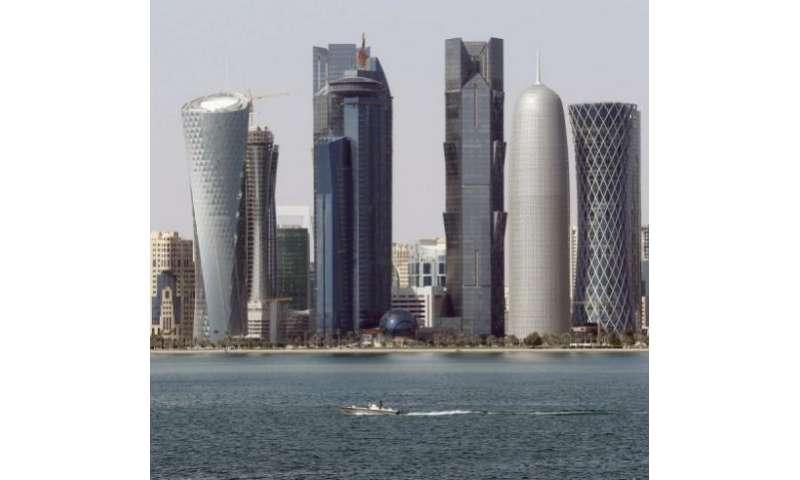 The skyline of Qatari capital Doha, pictured on January 1, 2013
