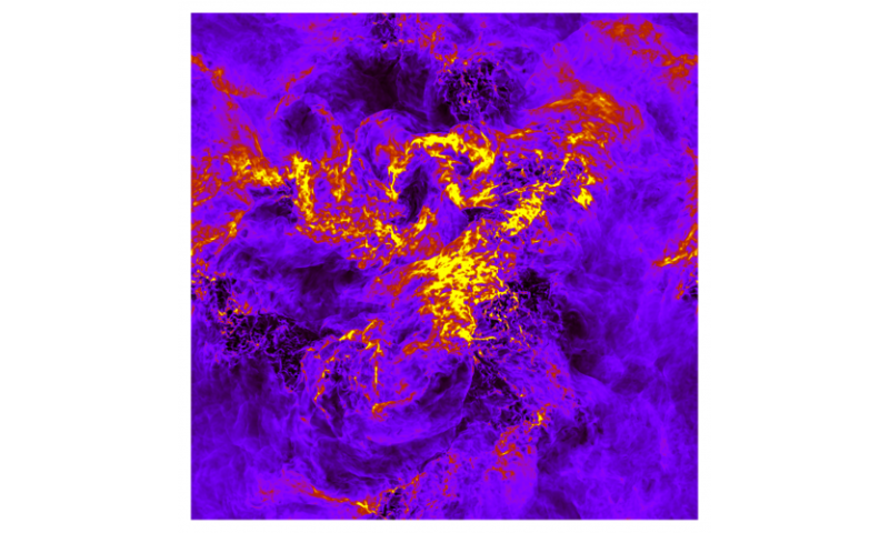 What is behind Einstein's turbulences? Calculations give initial insight into relativistic properties of this process
