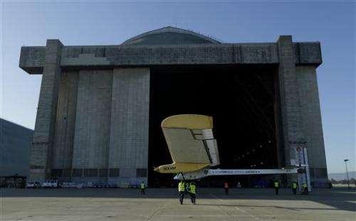 Sun-powered plane completes California test flight