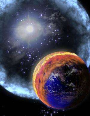 Cosmic rays zap a planet's chances for life