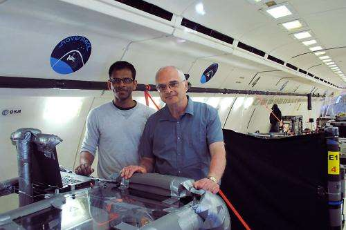 MIcroelectronics cooling system tested in weightless environment
