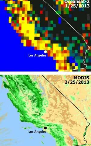 Satellites see double jeopardy for Southern California fire season