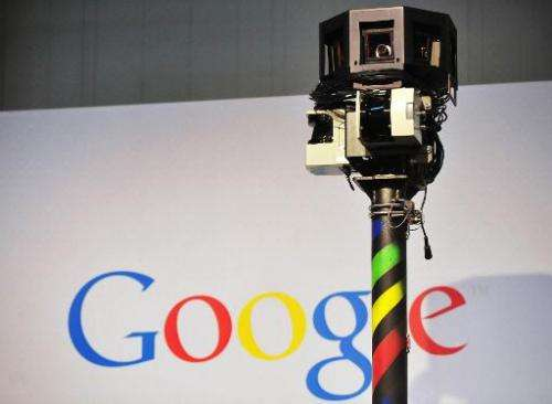 The camera of a Google street-view car