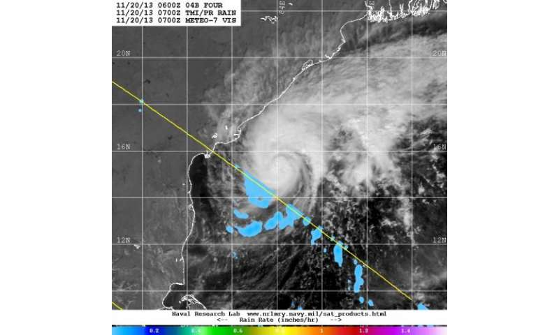 Tropical Cyclone Helen headed for landfall in India