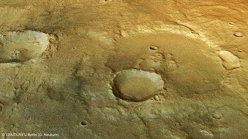 Water in a Martian desert