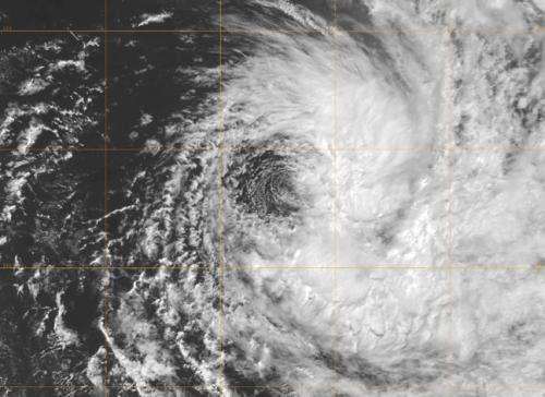 NASA satellite imagery shows Cyclone Imelda one-sided