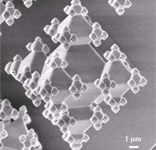 Building 3-D fractals on a nanoscale: Structure repeats itself from micro to nano