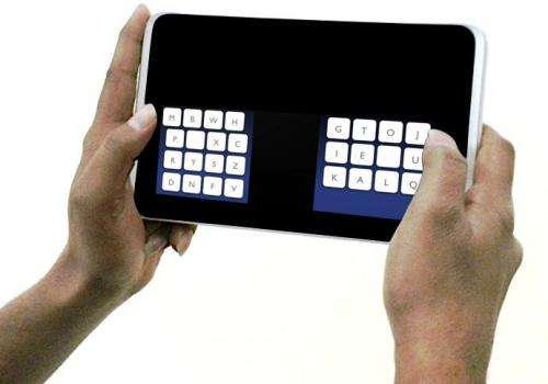 Computer scientists design new keyboard layout on touch screen devices