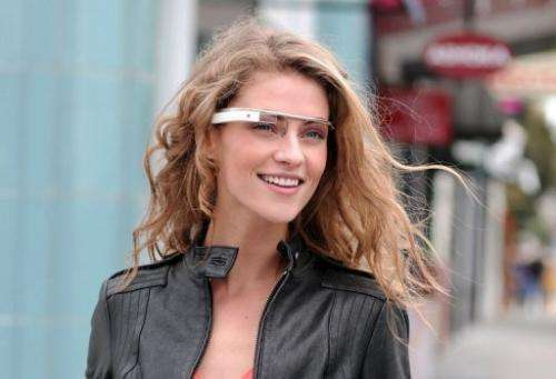 This image released by Google shows eyewear that meshes the online world with the real world