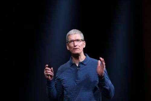 Apple CEO Tim Cook speaks on October 23, 2012 in San Jose, California