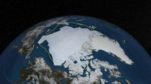 Arctic sea ice minimum in 2013 is sixth lowest on record