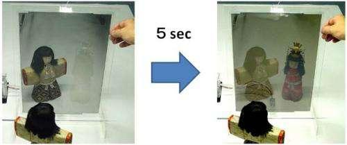 Development of switchable mirror sheet using gasochromic method: New technology for energy-saving window glass