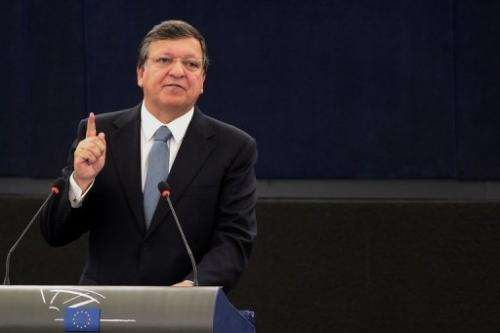 European Commission President Jose Manuel Barroso delivers his State of the Union speech, September 11, 2013