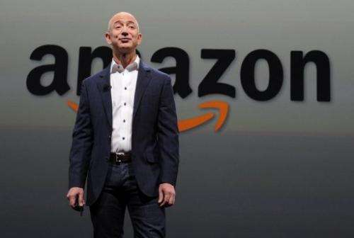 Jeff Bezos, CEO of Amazon, introduces the new Kindle Paperwhite on September 6, 2012 in Santa Monica, California