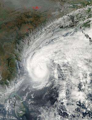 NASA sees Tropical Cyclone Madi nearing India's east coast